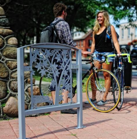 Public art bike rack series, Untitled