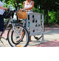 Public art bike rack series, Stacked Bikes