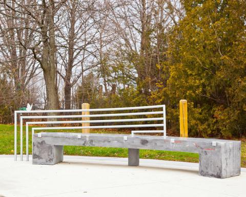 Kristof Zukowski, Butterfly, public art bench